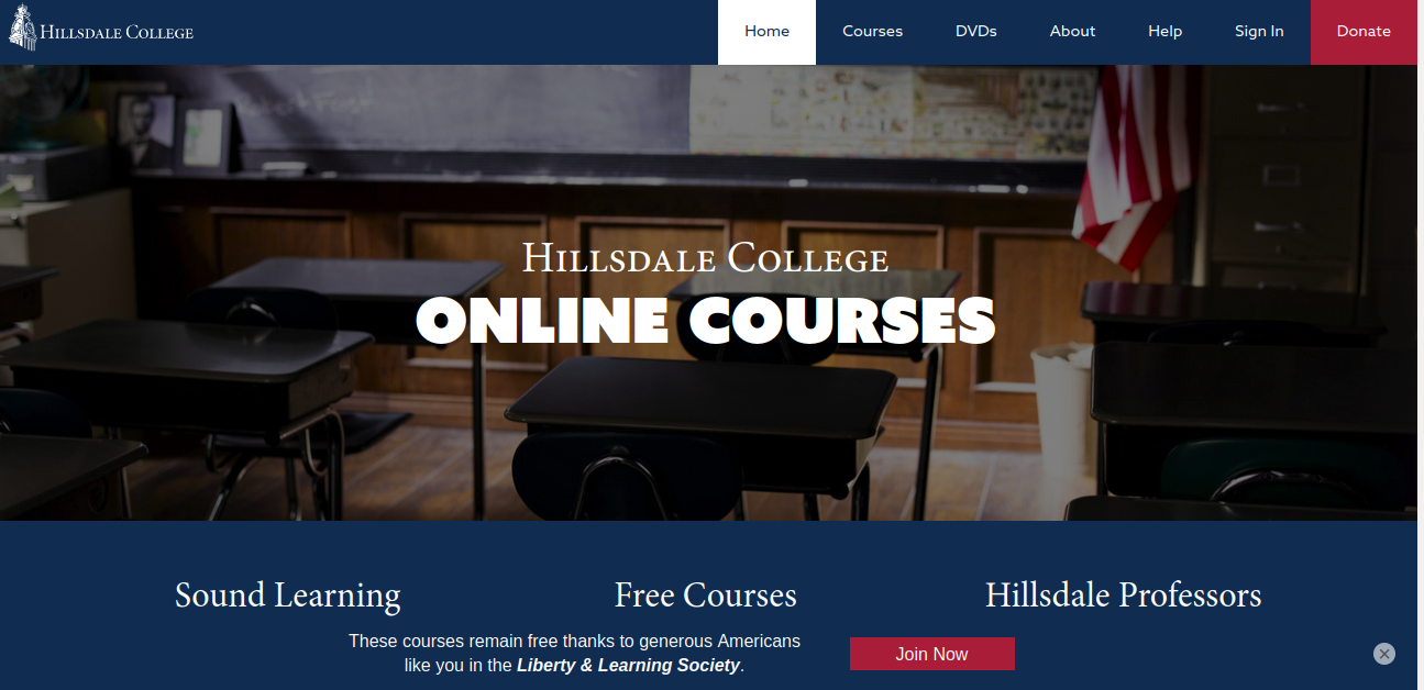 Hillsdale Free Online Courses
